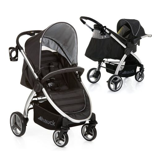 NEW HAUCK BLACK LIFT UP 4 SHOP N DRIVE TRAVEL SYSTEM 1 HAND FOLD PUSHCHAIR+CARSEAT SPECIAL OFFER